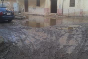 مياه الأمطار تحاصر مدينة ههيا