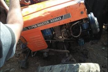 توقف حركة القطارات بالمنوفية بسبب اصطدام قطار بجرار زراعي
