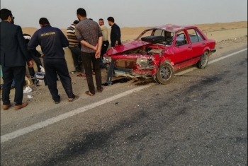 حادث يصيب أسرة كاملة على طريق