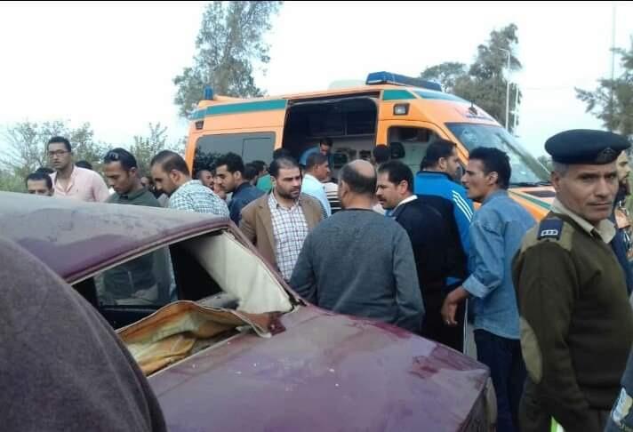إصابة ٣ أشخاص في حادث مروع أمام قرية العدوة بههيا