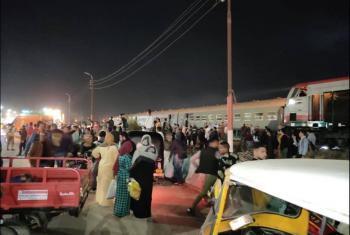 خروج قطار عن القضبان بمنيا القمح