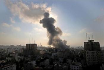 قصف صهيوني يلحق أضرارا بمستشفى أطفال في غزة
