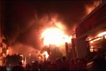 حريق بمصنع بسكويت في منيا القمح