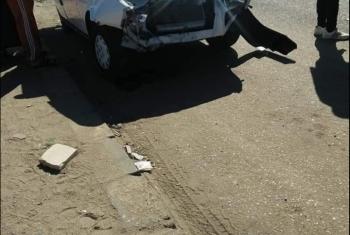 وقوع مصابين في حادث تصادم 4 سيارات أمام مرور العاشر من رمضان