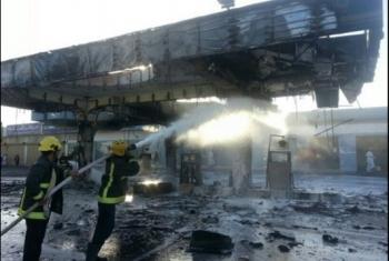الإبراهيمية.. حريق يلتهم محطة وقود سيارات بقرية