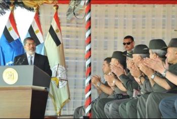 استئناف محاكمة الرئيس محمد مرسي بهزلية