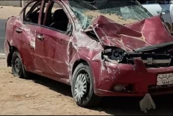 إصابة 5 مدرسين من العاشر في حادث أثناء ذهابهم لامتحانات الثانوية بالسويس