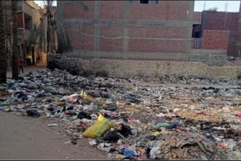 بالصور.. القمامة تؤرق حياة الأهالي بحي