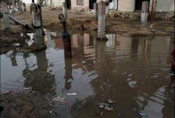كسر ماسورة المياه يثير غضب أهالي المناجاة بالحسينية