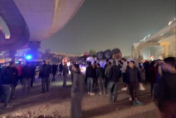 إصابة سائقين إثر انقلاب مقطورتين بالنزهة الجديدة في القاهرة