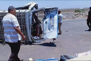 إصابات بحادث مروري على الطريق الدائري الإقليمي بالعاشر