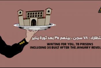 الشبكة العربية لحقوق الإنسان تحذر من زيادة أعداد السجون في مصر