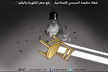 كاريكاتير.. خطة حكومة العسكر في رفع سعر الكهرباء والوقود