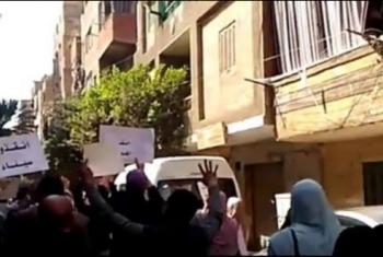 ثوار الجيزة يتظاهرون من الهرم رفضًا لجرائم العسكر بسيناء