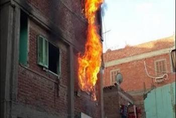 مصرع سيدة وابنتها في انفجار أنبوبة بوتاجاز بكفر صقر
