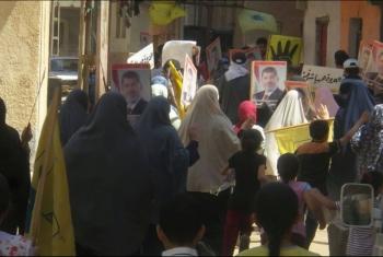 بالصور.. ثوار الشرقية يهنئون الرئيس مرسي والمعتقلين بحلول شهر رمضان