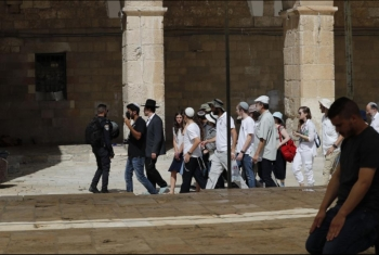 مستوطنون يقتحمون باحات الأقصى تحت حراسة شرطة الاحتلال
