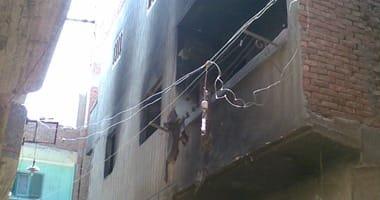 إصابة 6 أشخاص في حريق منزل بأولاد صقر