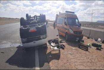 مصرع وإصابة 4 أشخاص بالطريق الإقليمي في بلبيس