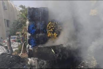 حريق في مصنع منسوجات بالعاشر من رمضان