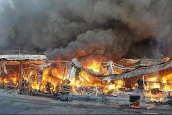 الصالحية الجديدة| حريق هائل يلتهم مزرعة طيور في العزازي