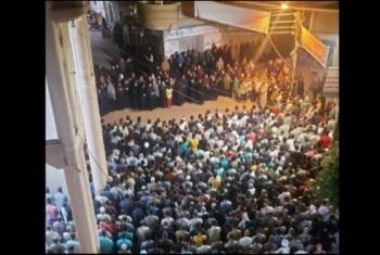 الآلاف يشيعون جنازة إمام مسجد الأرقم بمسقط رأسه في منيا القمح