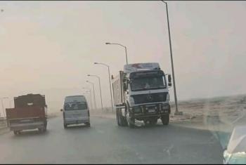 شكاوى من سيارات النقل الثقيل بطريق بلبيس العاشر من رمضان