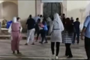 رجل يصفع سيدة بنادي الصفوة في العاشر من رمضان