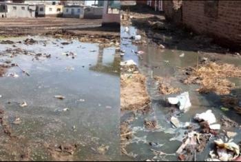 غرق قرية بأولاد صقر في مياه الصرف الصحي