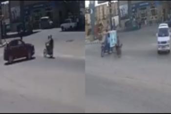 استغاثات لأهالي العاشر بسبب كثرة الحوادث بتقاطع بنزينة المجاورة 62