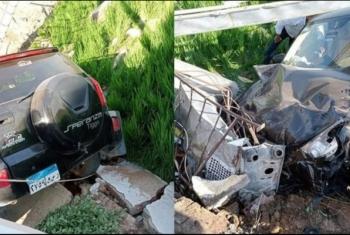 إصابة أسرة في حادث تصادم بطريق