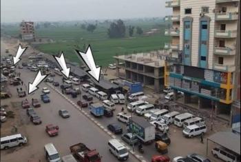 أهالي الزقازيق يشكون الفوضى المرورية بأول شارع الغشام