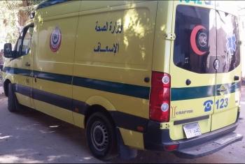 حادث تصادم بين سيارة وموتوسيكل بأبوحماد