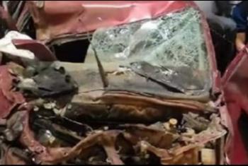 إصابة سائق في حادث تصادم بالعاشر من رمضان