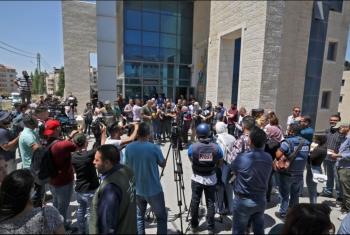 صحفيون فلسطينيون يحتجّون بعد الاعتداء عليهم