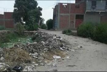 استغاثات من تراكم القمامة بقرية ميت حمل في بلبيس