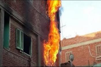 حريق يلتهم شقة سكنية في منيا القمح