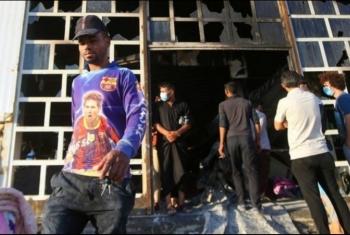 مقتل 64 في حريق بعزل كورونا في بالعراق